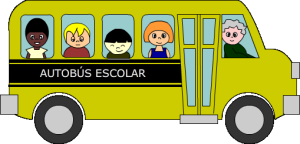 Los alumnos llegarán en autobús.